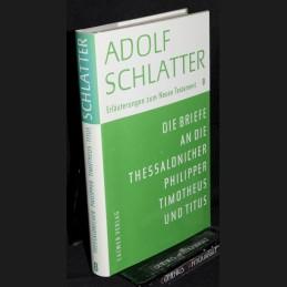 Schlatter .:. Die Briefe an...